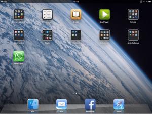 iPad mit installiertem WhatsApp