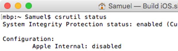 macOS - SIP (de)aktivieren