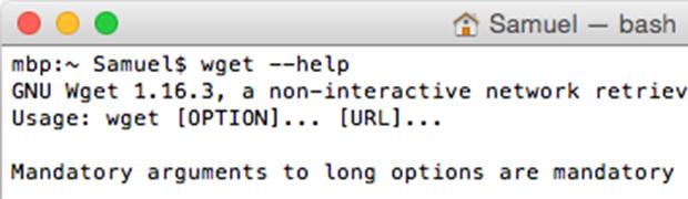 wget unter macOS installieren
