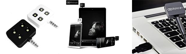 Externes Fotolicht für Smartphones