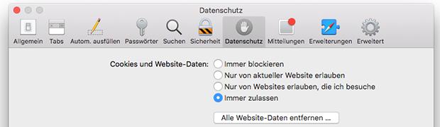 OS X - Safari vollständig zurücksetzen