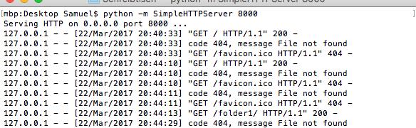 So startest Du einen Webserver auf dem Mac