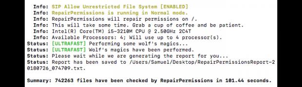 macOS 10.13 High Sierra - Zugriffsrechte reparieren