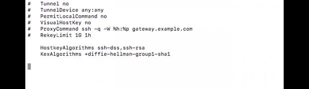 macOS - No matching cipher found beheben