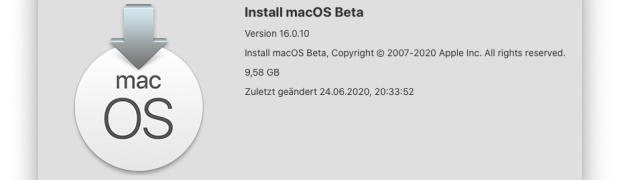 macOS 11 Big Sur - Installer herunterladen