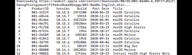 macOS Installer via Skript herunterladen